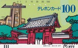 JAPAN - Red Gate, Tokyo University(230-005, 100 Units), 07/85, Used - Japon
