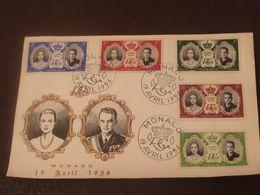 MONACO  :  Série Du Mariage Princier Sur 1er Jour Du 19 4 1956 - - Machine Stamps (ATM)