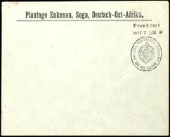 """Vorausfrankatur Dienstsiegel """"KAISERL. DEUTSCHES POSTAMT DAR-ES-SALAAM"""", L2 """"Frankiert / Mit 7 1/2 H."""" Schwarzviolett, F - Colony: German East Africa"""