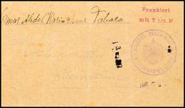 Vorausfrankierung, MOROGORO, Violettes Dienstsiegel Und Roter Frankostpl. Auf Brief Von Tabora Nach Kilimantinde, Ohne P - Colony: German East Africa