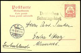 """DEUTSCHE SEEPOST OST-AFRIKANISCHE HAUPTLINIE E 5/5 06, Dampfer Kanzler II, Und L2 """"Deutsches Schutzgebiet"""" Auf GA-Karte  - Colony: German East Africa"""