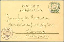 K.D.FELDPOSTSTATION Nr.3 2.11.(04), Etwas Undeutlich Als Entwerter Auf Postkarte Mit 5 Pfg. Kaiseryacht Ohne Wasserzeich - Colony: German South West Africa