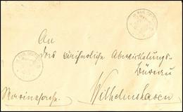 MSP No. 22 18.5.01 (SMS Wolf), 2x Recht Klar Auf Dienstbrief (vierseitig Im Format Verkleinert, Zusammengeklebt) Mit Rüc - Colony: German South West Africa