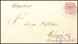 10 Pf. Krone/Adler, GA-Umschlag Nach Außerkurssetzung Als Portofreier Feldpostbrief Von WINDHUK DSWA 13.7.06 Nach Leipzi - Colony: German South West Africa