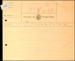 30.6.1914, Telegramm Von Grootfontein Nach Otavi, Gebrauchsspuren (Aktenlochung Und Verstärkter Rand)  BF - Colony: German South West Africa