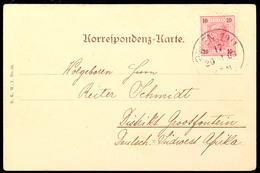 10 Heller Österreich Auf Ansichtskarte (Eckbug) Von WIEN 20.6.03 Nach Grootfontein, Katalog: ÖS 89 BF - Colony: German South West Africa