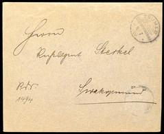 Reichsdienstsache Von TSUMEB 16/7 07 Nach Swakopmund, Doppelt Verwendeter Umschlag, Innen Brief Mit 10 Pf. Kaiseryacht B - Colony: German South West Africa