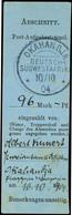 1904, Blauer Empfängerabschnitt Einer Feld-Postanweisung über 96.- Mark Aus OKAHANDJA 10/10 04, In Dieser Form Selten!   - Colony: German South West Africa