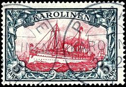 "5 M. Kaiseryacht Gestempelt ""PONAPE 31/12 07"", Kabinett, Geprüft Gebr. Senf, Fotoattest Jäschke-L. BPP, Mi. 600.-, Katal - Kolonie: Karolinen"