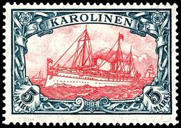5 Mark Kaiseryacht, Tadellos Postfrisch, Geprüft Bothe BPP, Mi. 180,-, Katalog: 22IIB ** - Kolonie: Karolinen
