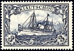 3 Mark Kaiseryacht, Tadellos Postfrisch, Ohne Signatur, Mi. 260,-, Katalog: 16 ** - Colonie: Kiautchou