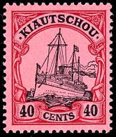 40 Cents Kaiseryacht, Postfrisches Luxusstück, Ohne Signatur, Mi. 300,-, Ex Sammlung Nitaha, Katalog: 23 ** - Colony: Kiauchau