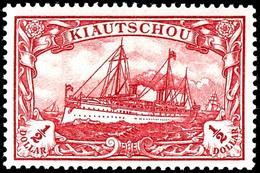 1/2 Dollar Kaiseryacht, Tadellos Postfrisch, Mi. 200,-, Zuschlag 168. Auktion = 160,-, 171. Auktion 100,-, Katalog: 24B  - Colony: Kiauchau