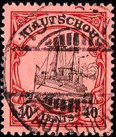 40 C. Kaiseryacht Mit Wz., Tadellos Gestempelt, Gepr. Jäschke-L. BPP, Mi. 65.-, Katalog: 33 O - Colony: Kiauchau