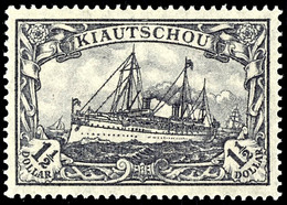 1 1/2 Dollar Kaiseryacht, Tadellos Postfrisch, Ohne Signatur, Mi. 100,-, Katalog: 36IIB ** - Colony: Kiauchau