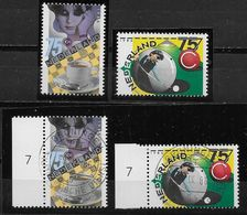 Nederland - 1986 - Yv.1273 / 1274 - ** En O - Damspel En Biljart. - Periodo 1980 - ... (Beatrix)