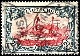 """2 1/2 Dollar Schiffszeichnung Mit Wasserzeichen, Tadellos, Gestempelt """"TSINGTAU A"""", Geprüft Bothe BPP, Mi. 600,-, Katalo - Colony: Kiauchau"""