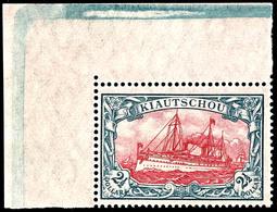 2 1/2 Dollar Kaiseryacht, Tadellos Postfrisch, Linkes Oberes Eckrandstück, Ohne Signatur, Mi. 125,- ++, Katalog: 37IIB * - Colony: Kiauchau