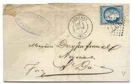 241 - 45 - Lettre Envoyée De Senones 1874 - 1871-1875 Cérès