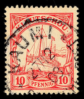 KAUMI 27/12 09, Klar Auf 10 Pf. Kaiseryacht, Katalog: 7 O - Colony: Kiauchau