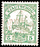 MARINE-SCHIFFSPOST No. 43, Teilstempel Auf 5 Pf. Kaiseryacht, Katalog: 6 O - Colony: Kiauchau