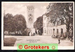 LANDSBERG A. LECH Am Baiertor 1919 Mischfrankierung - Landsberg