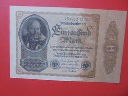 Reichsbanknote 1000 MARK 1922 VARIANTE FILLIGRANNE BRUN FONCE CIRCULER (B.16) - [ 3] 1918-1933 : République De Weimar