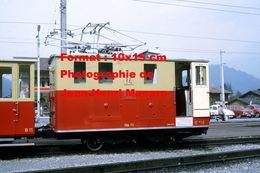 Reproduction D'une Photographie D'un Train Chemin De Fer SPB Schynige Platte Bahn à Wilderswill En Suisse En 1972 - Reproductions