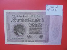Reichsbanknote 100.000 MARK 1923 VARIANTE 2 SERIES 8 CHIFFRES CIRCULER (B.16) - [ 3] 1918-1933 : República De Weimar