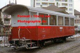 Reproduction D'une Photographie D'un Wagon AOMC Chemin De Fer à Crémaillère En Suisse En 1968 - Reproductions