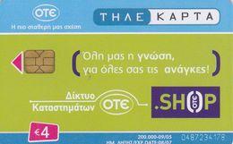 Greece, X1901, Advertisement - Ote Shop Code 0487, 2 Scans. - Grèce