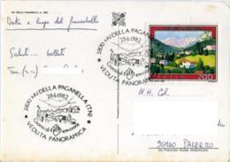 FAI DELLA PAGANELLA  Giorno Di Emissione 28.6.1982  Su Cartolina Paesaggistica Fai Della Paganella Trento - 6. 1946-.. Repubblica