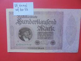 Reichsbanknote 100.000 MARK 1923 VARIANTE 1 SERIE 8 CHIFFRES CIRCULER (B.16) - [ 3] 1918-1933 : República De Weimar