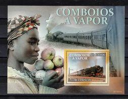 SAO TOME Et PRINCIPE  Timbre Neuf ** De 2010  ( Ref 6957 ) Transports - Train à Vapeur - Sao Tomé Y Príncipe