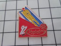 316b Pin's Pins / Beau Et Rare / THEME : JEUX OLYMPIQUES / ALBERTVILLE 92 LUGE SKELETON Ou ânerie Du Même Genre - Juegos Olímpicos