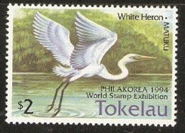 Tokelau  1994 206  Philakorea  White Heron    Unmounted Mint - Tokelau