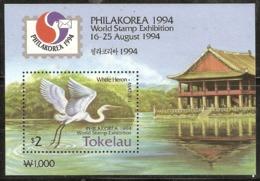 Tokelau  1994 MS 207  Philakorea  White Heron    Unmounted Mint - Tokelau