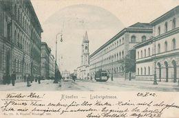 München - 1902 - Ludwigstrasse  - Scan Recto-verso - Muenchen