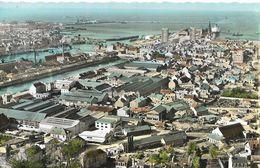 CARTE POSTALE 09CM/14CM PHOTO ORIGINALE DENTELEE : CHERBOURG PAQUEBOT QUEEN MARY EN GARE MARITIME MANCHE (50) - Cherbourg