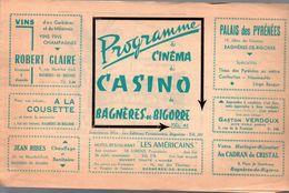 Bagneres De Bigorre (65 Hautes Pyrénées)   Programme  Cinéma Du Casino   (M0273) - Programs