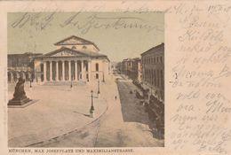 München - 1900 - Max Josephplatz Und Maximilianstrasse  - Scan Recto-verso - Muenchen