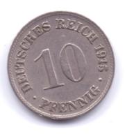 DEUTSCHES REICH 1915 D: 10 Pfennig, KM 12 - [ 2] 1871-1918 : Imperio Alemán