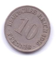 DEUTSCHES REICH 1915 A: 10 Pfennig, KM 12 - [ 2] 1871-1918 : Imperio Alemán