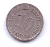DEUTSCHES REICH 1914 E: 10 Pfennig, KM 12 - [ 2] 1871-1918 : Imperio Alemán