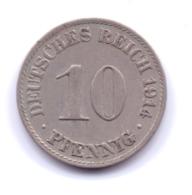 DEUTSCHES REICH 1914 A: 10 Pfennig, KM 12 - [ 2] 1871-1918 : Imperio Alemán