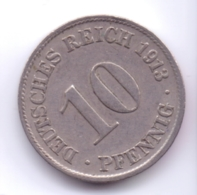 DEUTSCHES REICH 1913 D: 10 Pfennig, KM 12 - [ 2] 1871-1918 : Imperio Alemán