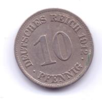 DEUTSCHES REICH 1912 E: 10 Pfennig, KM 12 - [ 2] 1871-1918 : Imperio Alemán