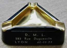 CENDRIER D.M.L. 283 RUE DUGUESCLIN LYON DEMENAGEMENTS IMPORTATION EXPORTATION - Transporto