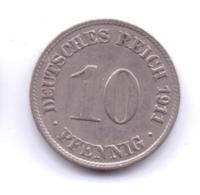 DEUTSCHES REICH 1911 D: 10 Pfennig, KM 12 - [ 2] 1871-1918 : Imperio Alemán