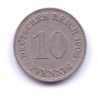 DEUTSCHES REICH 1908 E: 10 Pfennig, KM 12 - [ 2] 1871-1918 : Imperio Alemán